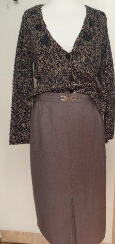 Canda Rok met hoge taille grijs-bruin