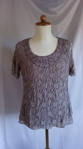 Canda Boatneck Shirt grey brown
