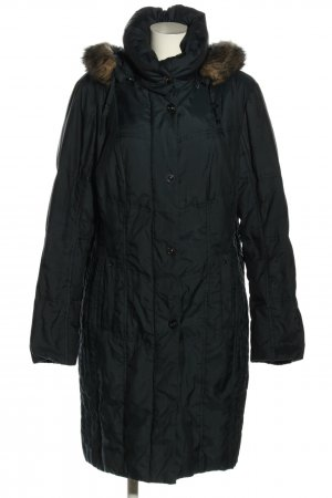 Canda Quilted Coat black quilting pattern casual look