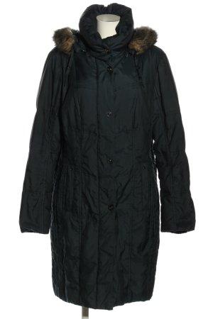 Canda Pikowany płaszcz czarny Pikowany wzór W stylu casual