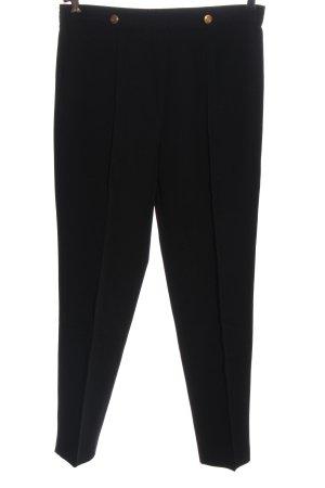 Canda Pantalone jersey nero puntinato stile casual