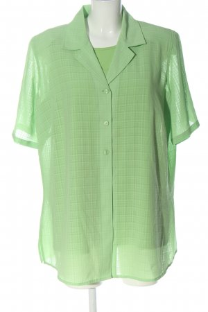 Canda Knitted Twin Set green check pattern casual look