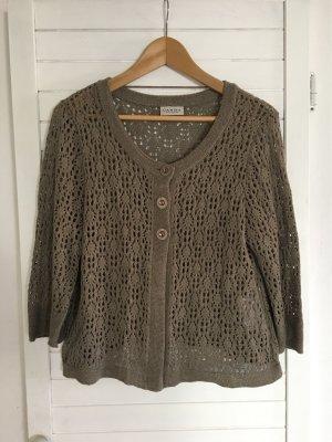 Canda Short Sleeve Knitted Jacket multicolored