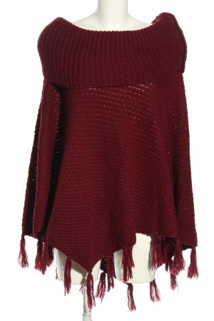 Canda Knitted Poncho red business style