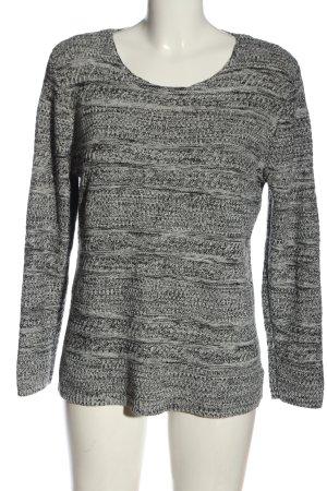 Canda Maglione lavorato a maglia bianco-nero puntinato stile casual