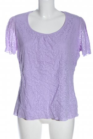 Canda Strickshirt lila Casual-Look