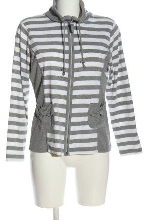 Canda Bluza dresowa biały-jasnoszary Na całej powierzchni W stylu casual