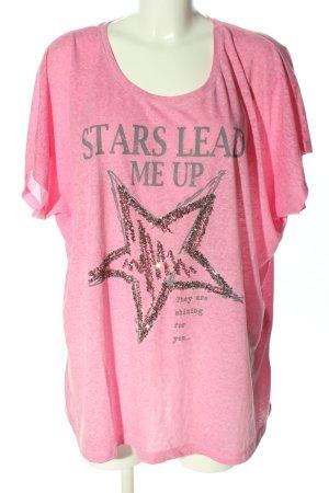 Canda T-shirt różowy Melanżowy W stylu casual