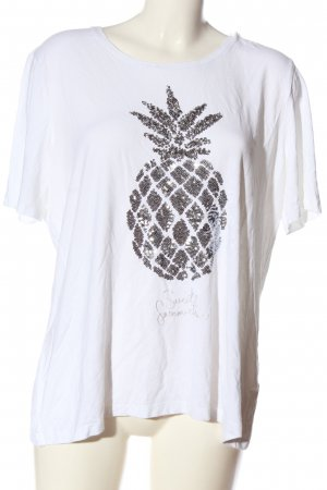 Canda T-Shirt white themed print casual look