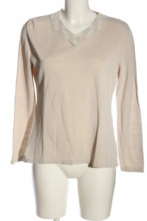 Canda V-Ausschnitt-Pullover nude Casual-Look