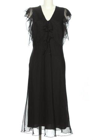 Canda Volantkleid schwarz Elegant
