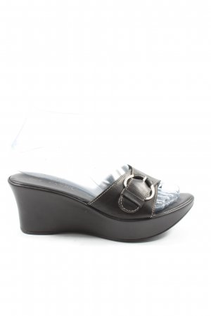 Canda Wedge Sandals black casual look