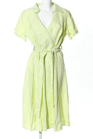 Canda Vestido cruzado verde estilo «business»