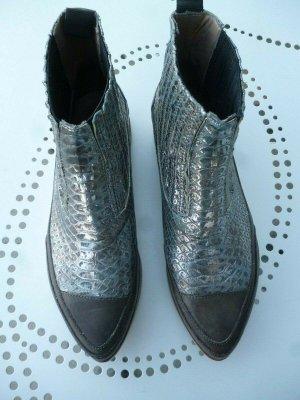 Candice Cooper Damen Stiefelette Silber Snake zweifarbig Gr. 39