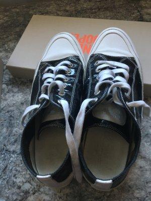 Candice Cooper Basket à lacet noir cuir