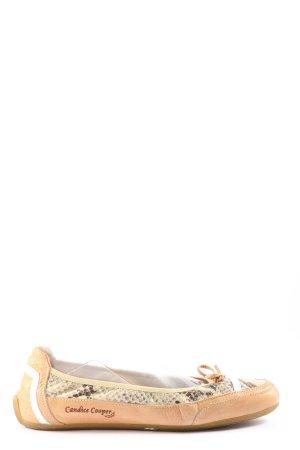 Candice Cooper Ballerina pieghevole color carne-grigio chiaro motivo animale