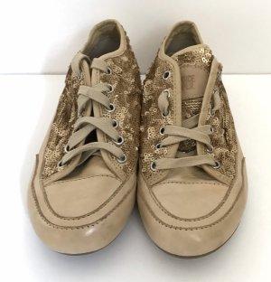 Candice Cooper Gold Pailetten Sneaker