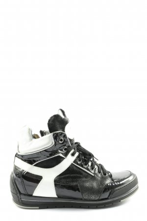 Candice Cooper High top sneaker zwart-wit casual uitstraling