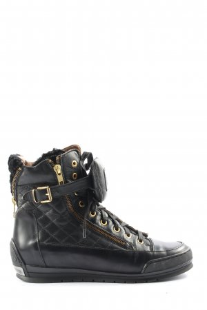 Candice Cooper Sneaker alta nero-oro stile casual