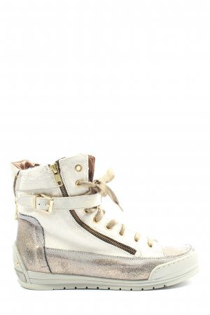Candice Cooper High Top Sneaker white-silver-colored casual look