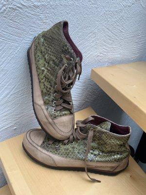 Candice Cooper Sneaker alta verde oliva-beige