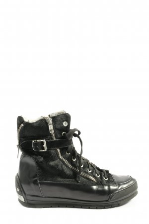 Candice Cooper Bottines à lacets noir style décontracté