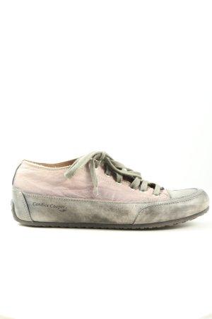 Candice Cooper Schnürsneaker hellgrau-pink Motivdruck Casual-Look