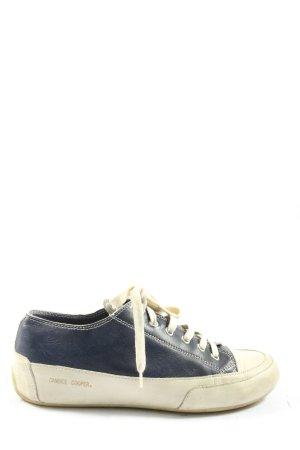 Candice Cooper Basket à lacet bleu-blanc style décontracté