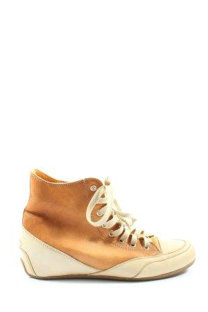Candice Cooper Basket à lacet orange clair-blanc cassé style décontracté