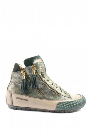 Candice Cooper Sneaker stringata oro-nero stile casual