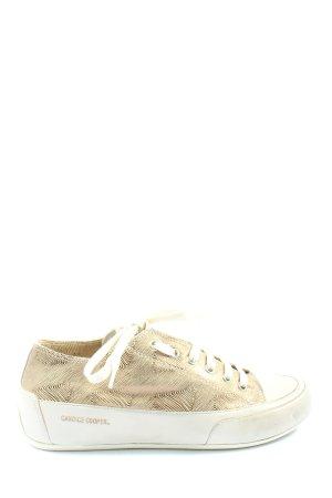 Candice Cooper Basket à lacet crème-noir motif abstrait style décontracté