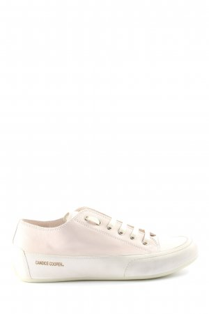 Candice Cooper Sneaker stringata bianco caratteri stampati stile casual