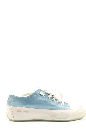 Candice Cooper Sznurowane trampki niebieski-w kolorze białej wełny