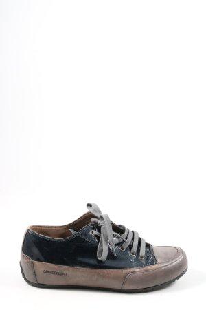 Candice Cooper Schnürsneaker bronzefarben-dunkelblau Schriftzug gedruckt