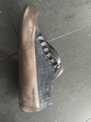 Candice Cooper Basket à lacet bleu acier-beige cuir