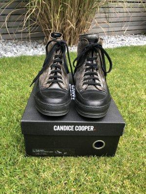 Candice Cooper Sneaker alta nero-bronzo