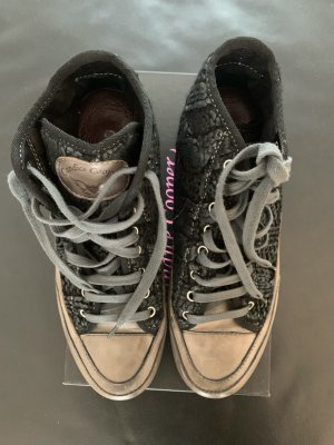 Candice Cooper Basket à lacet noir tissu mixte