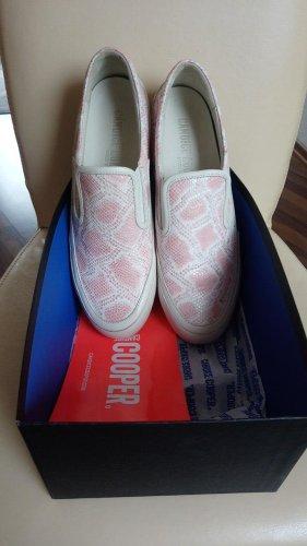 Candice Cooper Sneaker slip-on beige chiaro-rosa