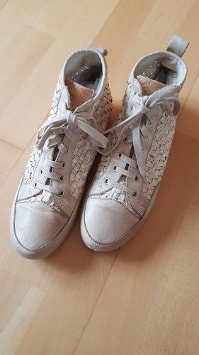 Candice Cooper High Top Sneaker beige leather