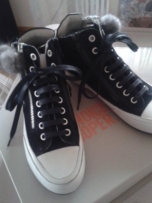 Candice Cooper High Top Sneaker black-natural white leather
