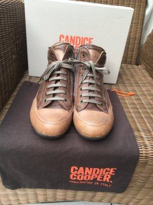 Candice Cooper Sneaker alta marrone-grigio Pelle
