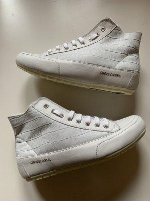 Candice Cooper Bottine d'hiver gris clair-blanc cuir