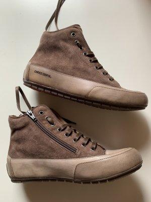 Candice Cooper Sneaker alta beige-marrone chiaro Pelle