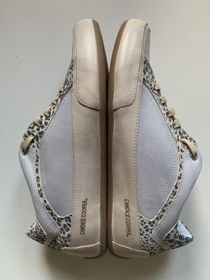 Candice Cooper Sneakers Grau Beige Leo Leder Gr 39 Neu NP 220€