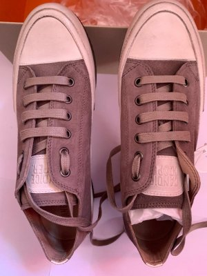 Candice Cooper Sneakers Leder Grau Creme Gr 38 Neu NP 200€