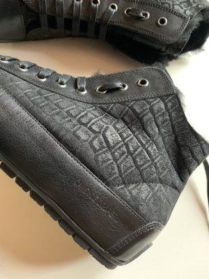 Candice Cooper Bottes fourrées noir cuir