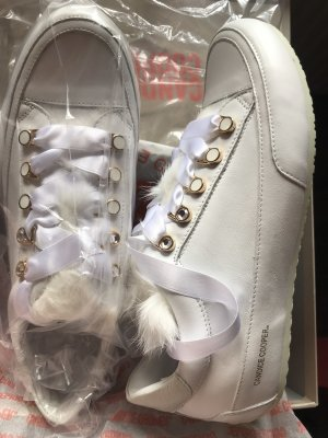 Candice Cooper Lace-Up Sneaker white leather