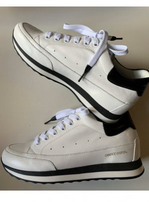 Candice Cooper Lace-Up Sneaker white-black leather