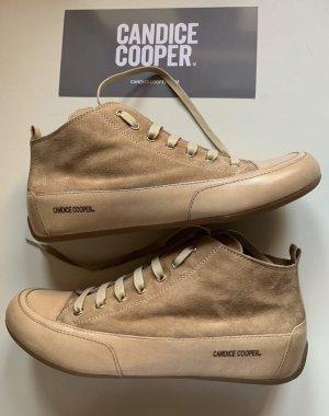 Candice Cooper Sneakers Stiefelette Gr 39 Beige Velourleder NP 229€ Neu