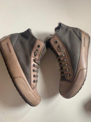 Candice Cooper Sneakers Winterstiefel Gr 38 Braun Lammfell Velourleder NP 249€ Neu